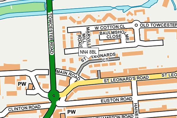NN4 8BL map - OS OpenMap – Local (Ordnance Survey)
