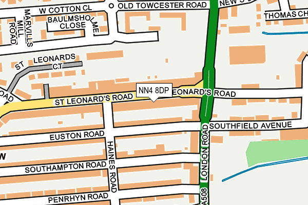 NN4 8DP map - OS OpenMap – Local (Ordnance Survey)