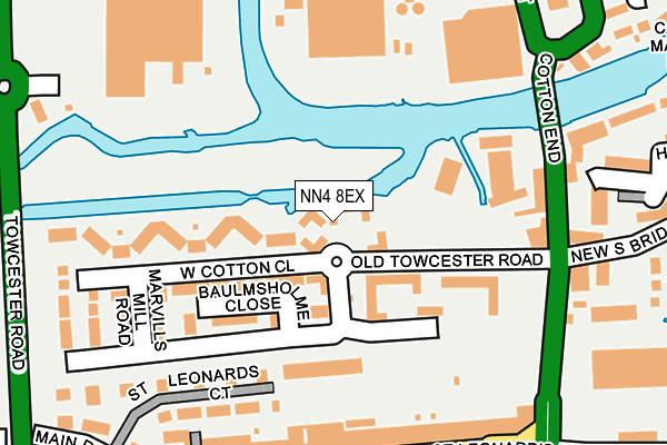NN4 8EX map - OS OpenMap – Local (Ordnance Survey)