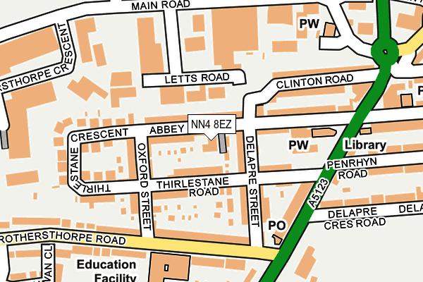 NN4 8EZ map - OS OpenMap – Local (Ordnance Survey)