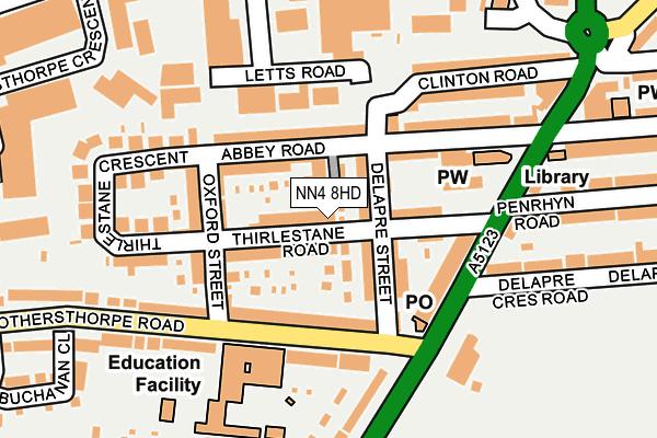 NN4 8HD map - OS OpenMap – Local (Ordnance Survey)