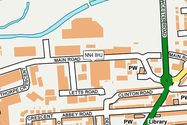 NN4 8HJ map - OS OpenMap – Local (Ordnance Survey)