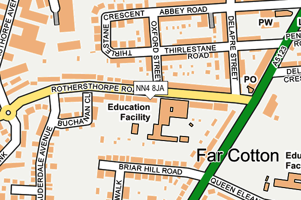 NN4 8JA map - OS OpenMap – Local (Ordnance Survey)