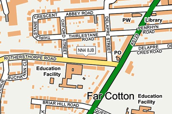 NN4 8JB map - OS OpenMap – Local (Ordnance Survey)