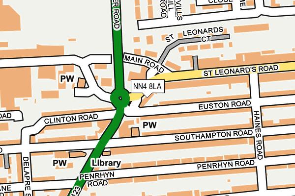 NN4 8LA map - OS OpenMap – Local (Ordnance Survey)