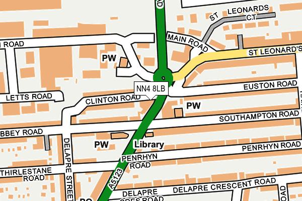 NN4 8LB map - OS OpenMap – Local (Ordnance Survey)