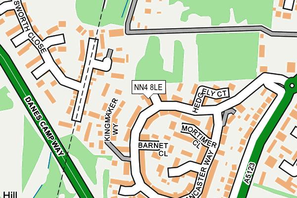 NN4 8LE map - OS OpenMap – Local (Ordnance Survey)