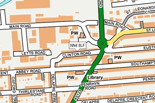 NN4 8LF map - OS OpenMap – Local (Ordnance Survey)