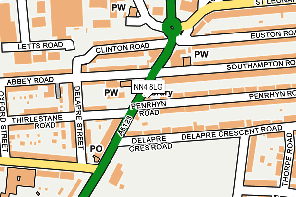 NN4 8LG map - OS OpenMap – Local (Ordnance Survey)
