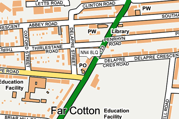 Map of SUZY WOOTTON VOICES LIMITED at local scale