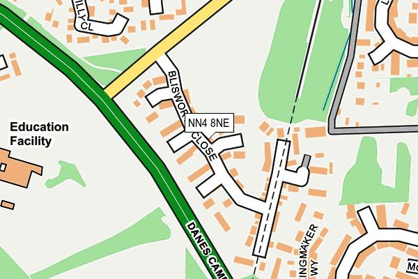 NN4 8NE map - OS OpenMap – Local (Ordnance Survey)