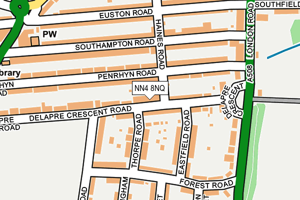 NN4 8NQ map - OS OpenMap – Local (Ordnance Survey)
