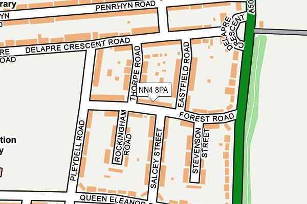 NN4 8PA map - OS OpenMap – Local (Ordnance Survey)