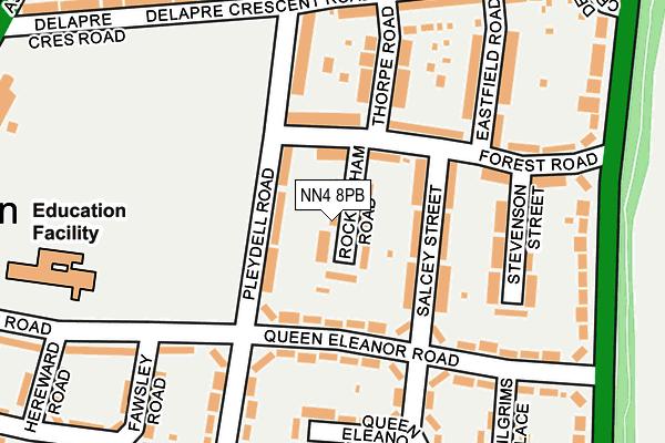 NN4 8PB map - OS OpenMap – Local (Ordnance Survey)