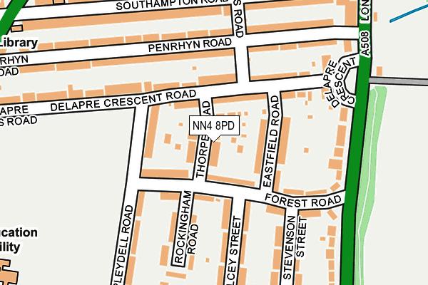 NN4 8PD map - OS OpenMap – Local (Ordnance Survey)