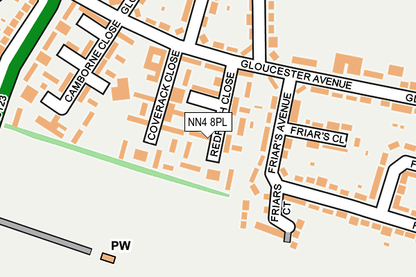 NN4 8PL map - OS OpenMap – Local (Ordnance Survey)