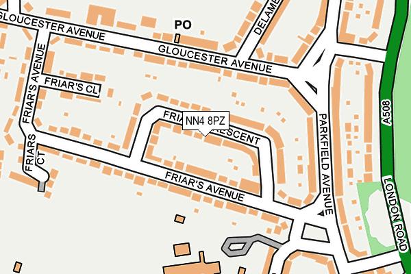 NN4 8PZ map - OS OpenMap – Local (Ordnance Survey)