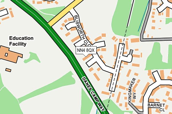 NN4 8QX map - OS OpenMap – Local (Ordnance Survey)