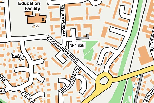 NN4 8SE map - OS OpenMap – Local (Ordnance Survey)