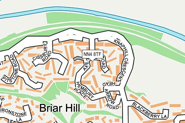 NN4 8TF map - OS OpenMap – Local (Ordnance Survey)