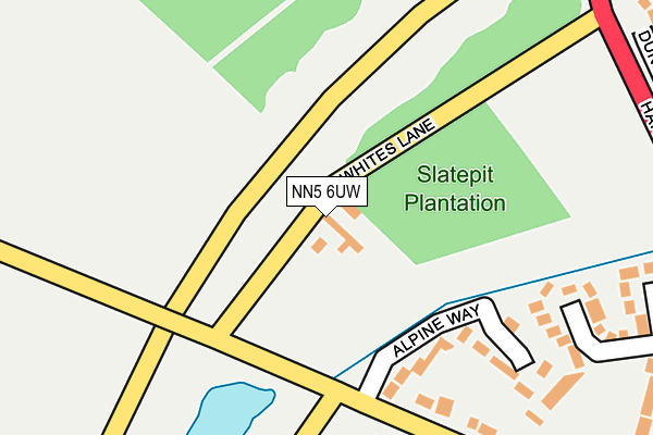NN5 6UW map - OS OpenMap – Local (Ordnance Survey)