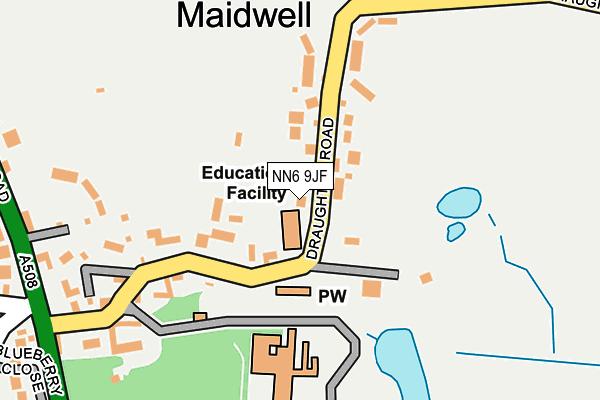 NN6 9JF map - OS OpenMap – Local (Ordnance Survey)