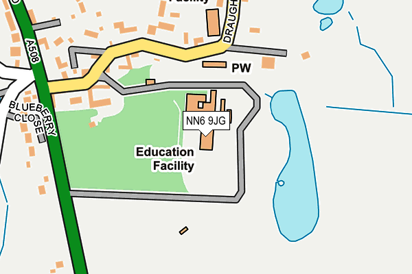 NN6 9JG map - OS OpenMap – Local (Ordnance Survey)