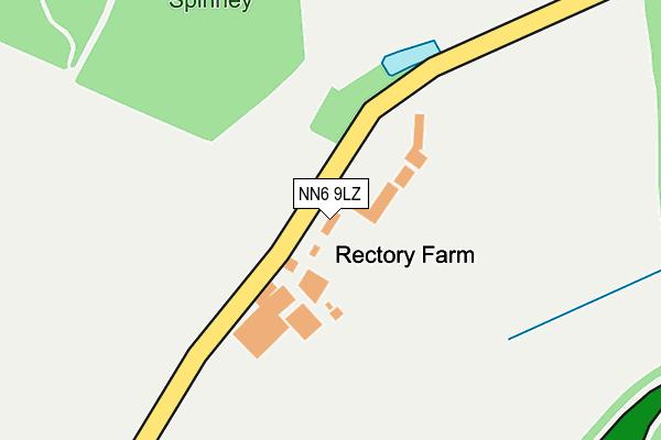 NN6 9LZ map - OS OpenMap – Local (Ordnance Survey)