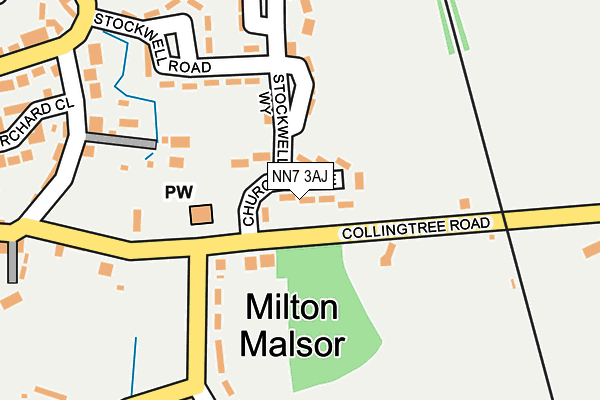 NN7 3AJ map - OS OpenMap – Local (Ordnance Survey)