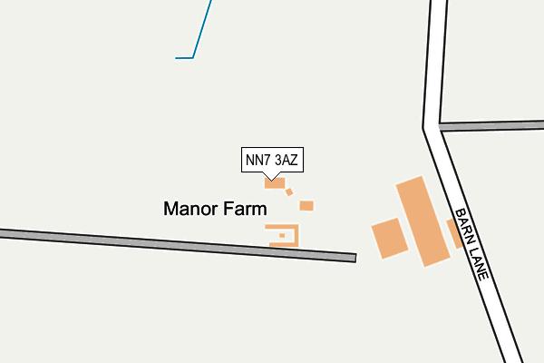 NN7 3AZ map - OS OpenMap – Local (Ordnance Survey)
