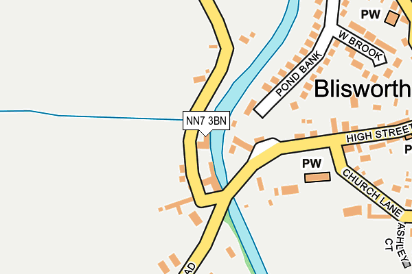 NN7 3BN map - OS OpenMap – Local (Ordnance Survey)