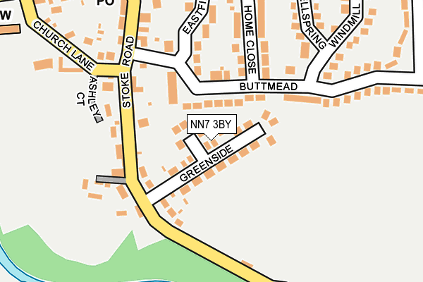 NN7 3BY map - OS OpenMap – Local (Ordnance Survey)