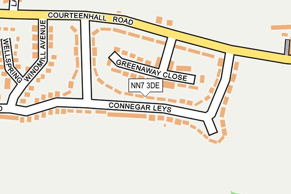NN7 3DE map - OS OpenMap – Local (Ordnance Survey)