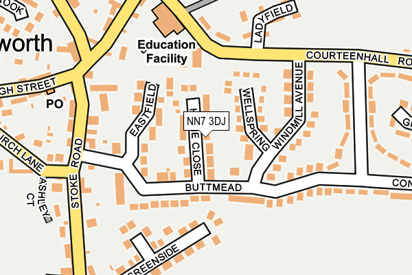 NN7 3DJ map - OS OpenMap – Local (Ordnance Survey)