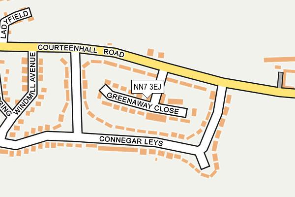 NN7 3EJ map - OS OpenMap – Local (Ordnance Survey)