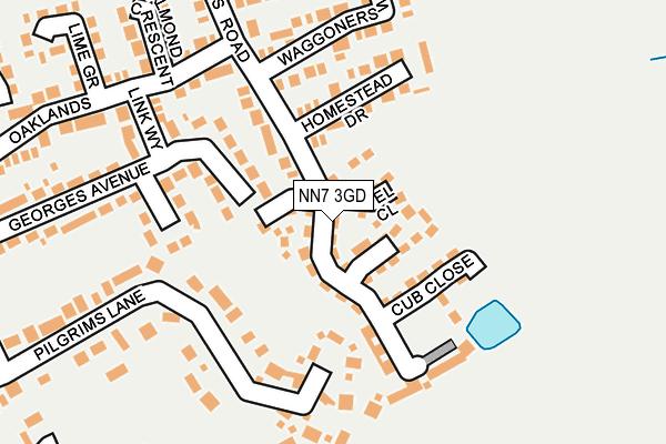 NN7 3GD map - OS OpenMap – Local (Ordnance Survey)
