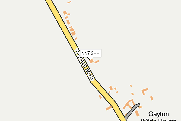 NN7 3HH map - OS OpenMap – Local (Ordnance Survey)