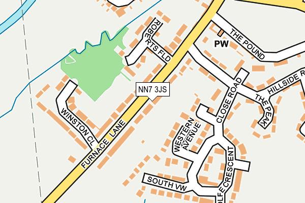 NN7 3JS map - OS OpenMap – Local (Ordnance Survey)