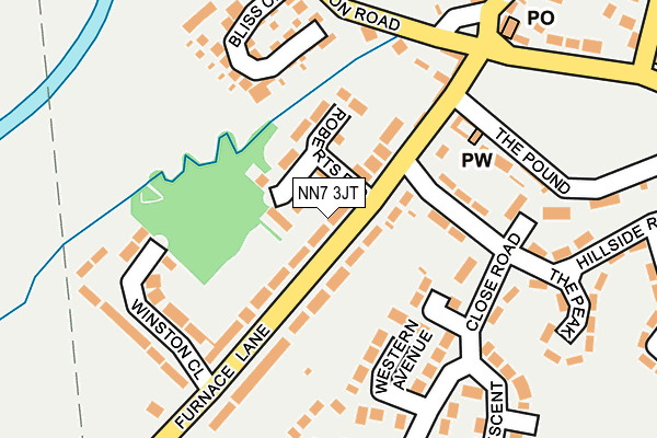Map of TOMS BLINDS LTD at local scale