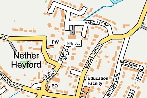 NN7 3LJ map - OS OpenMap – Local (Ordnance Survey)