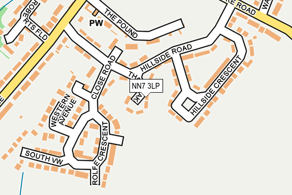 NN7 3LP map - OS OpenMap – Local (Ordnance Survey)