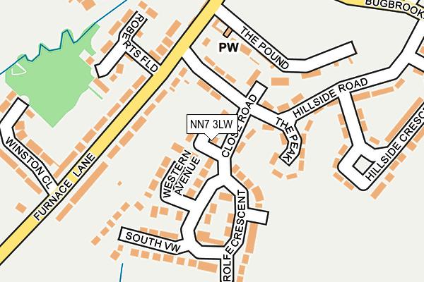 NN7 3LW map - OS OpenMap – Local (Ordnance Survey)