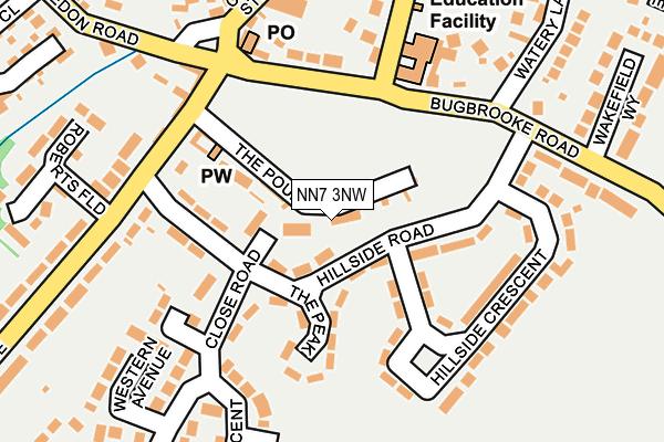 NN7 3NW map - OS OpenMap – Local (Ordnance Survey)