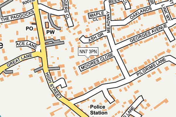 NN7 3PN map - OS OpenMap – Local (Ordnance Survey)