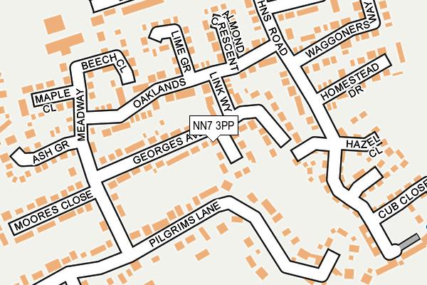 NN7 3PP map - OS OpenMap – Local (Ordnance Survey)