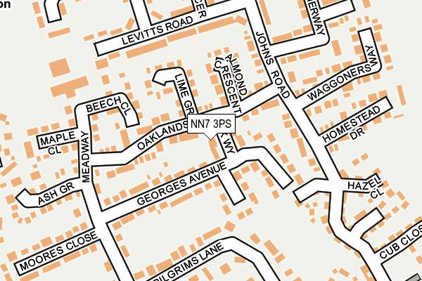 NN7 3PS map - OS OpenMap – Local (Ordnance Survey)