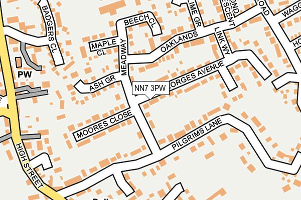 NN7 3PW map - OS OpenMap – Local (Ordnance Survey)
