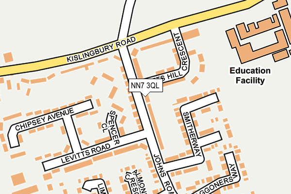 NN7 3QL map - OS OpenMap – Local (Ordnance Survey)