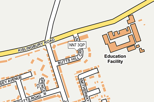NN7 3QP map - OS OpenMap – Local (Ordnance Survey)