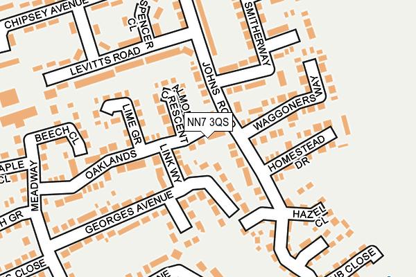 NN7 3QS map - OS OpenMap – Local (Ordnance Survey)